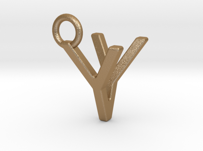Two way letter pendant - VY YV 3d printed