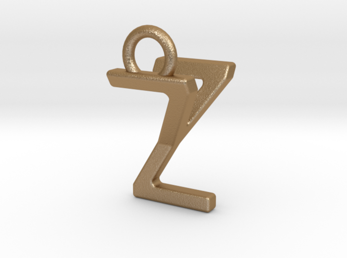 Two way letter pendant - YZ ZY 3d printed