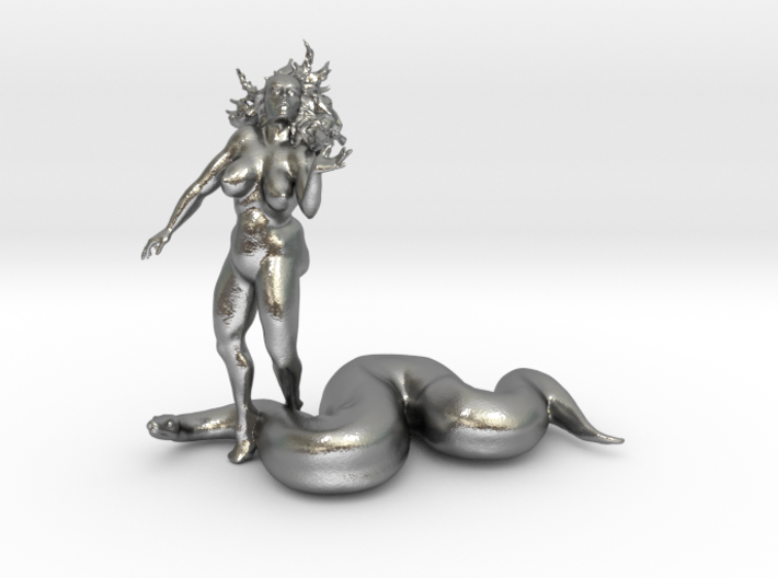 Eve And The Snake 3d printed