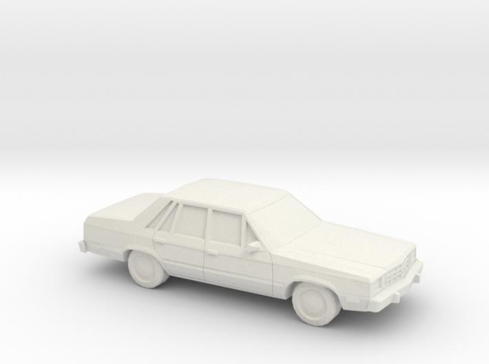 1/87 1978-83 Ford Fairmont Sedan 3d printed