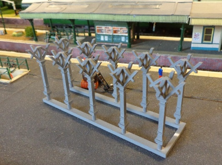LBSC Canopy Support 3d printed Test Print in WS&F, with primer.