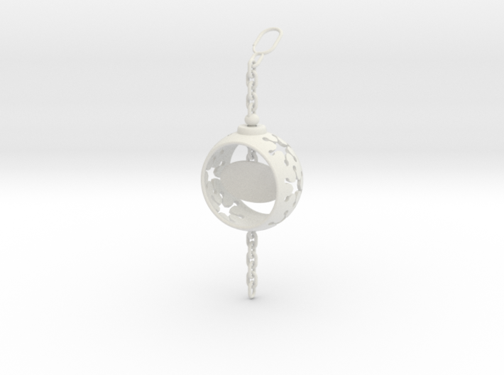 DRAW ornament - chain finial personalize 3d printed