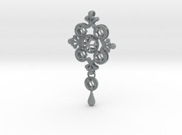 Gothic Pendant1 (cotton series) 3d printed