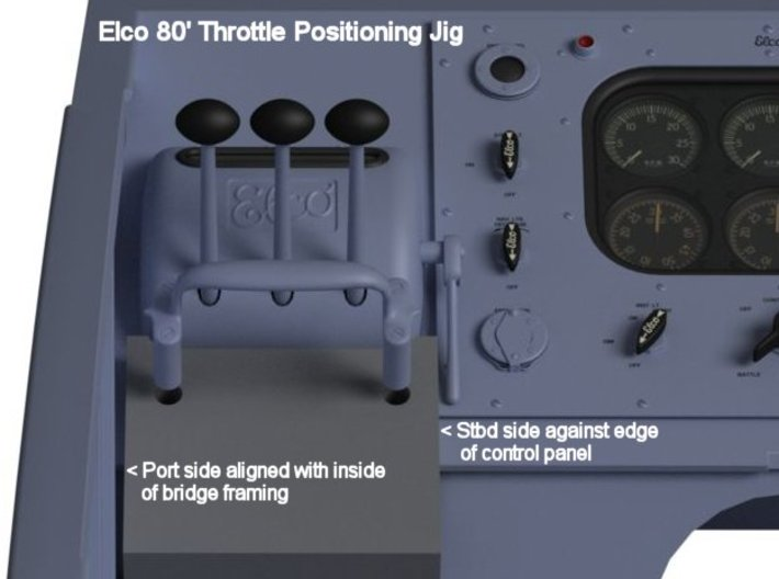 Throttle 1/24th Elco 80' 3d printed