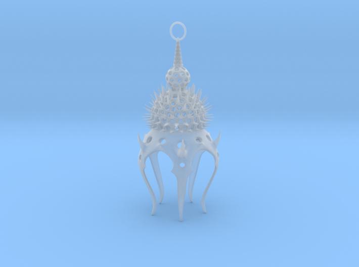 Thyrsocyrtis (Radiolarian) Pendant 3d printed