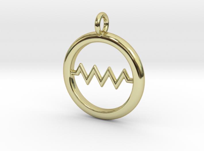 Resistor Symbol Pendant 3d printed