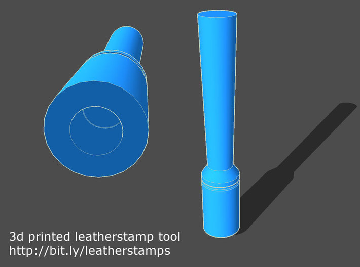Stamping tool/holder for leatherstamp patterns 3d printed