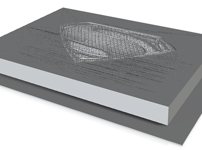 Man of Steel  3d printed