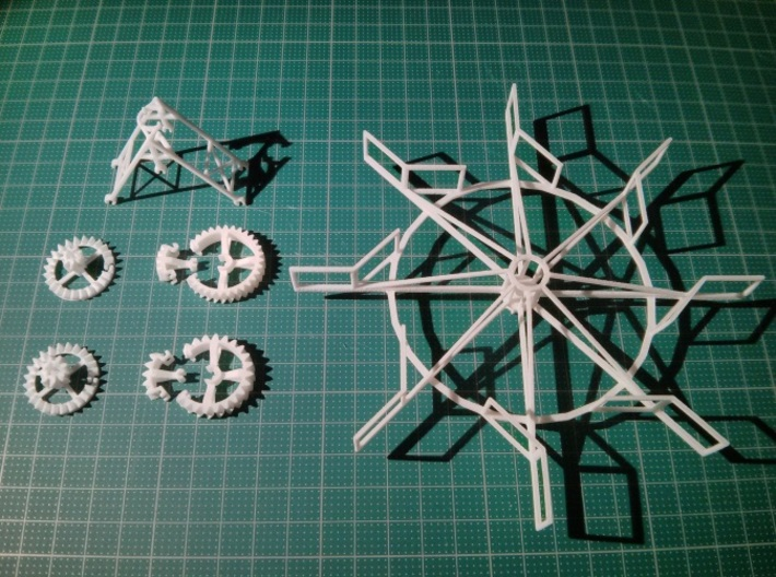 Vertical Axis Turbine - Strandbeest Addon (ver1) 3d printed turbine kit for the strandbeest