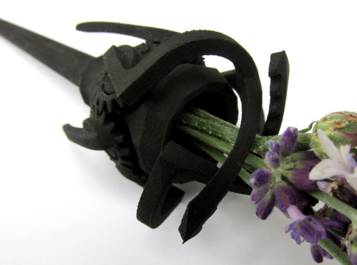 Mechanical Hairpin 3d printed In Black Strong & Flexible