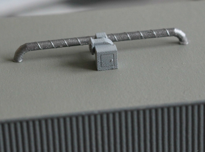 N scale Rooftop Detail Set 27pc 3d printed Rooftop fan 1 with ducts