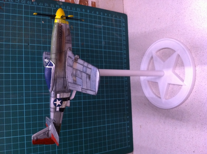 P51D Mustang stand,1/56 scale,28mm wargames 3d printed Airplane not included