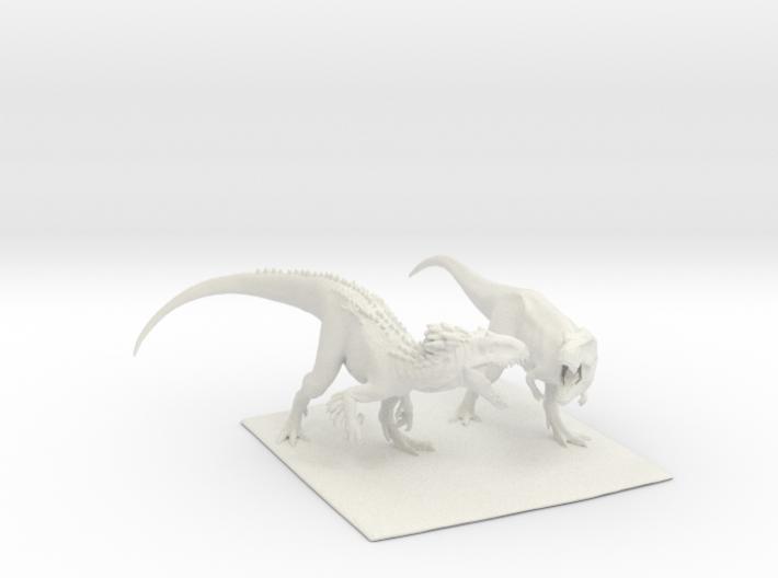 Dinosaur Indy Vs T rex 25 cm.  3d printed