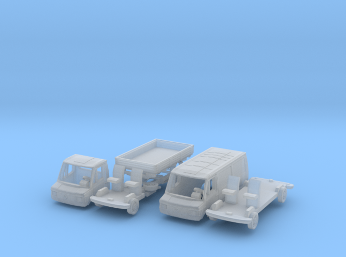SET 2x Mercedes-Benz 207D (TT 1:120) 3d printed