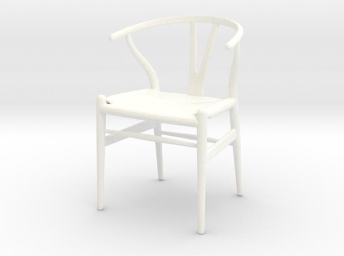Hans Wegner Wishbone Chair   1/18 Lundby Scale 3d Printed