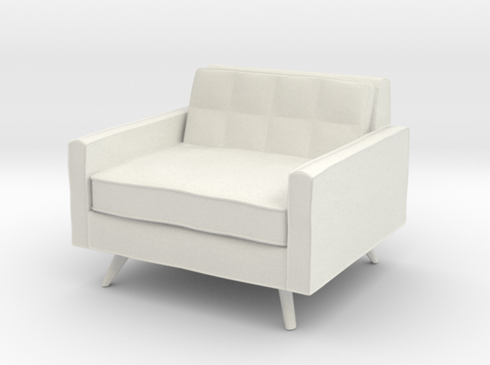 1:24 Mid-Century Square Chair 3d printed