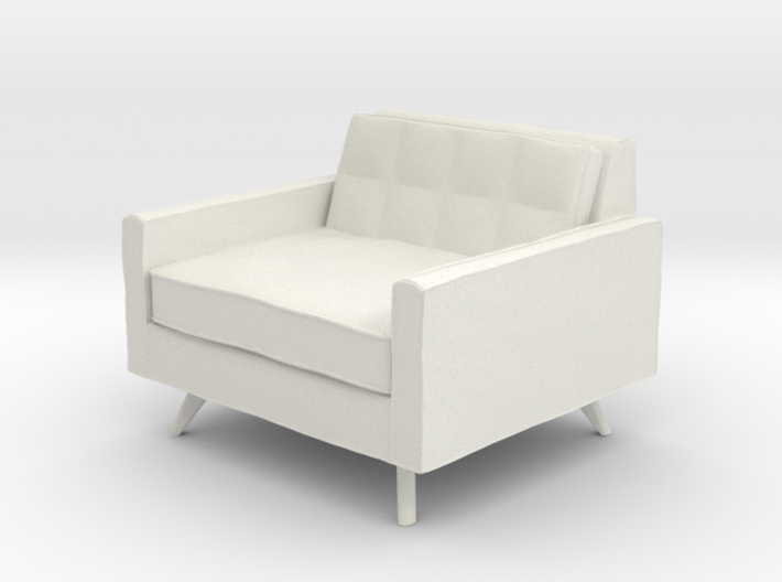 1:48 Mid-Century Square Chair 3d printed