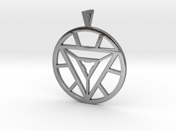 Iron man arc reactor pendant dqx2h9lak by bradene iron man arc reactor pendant 3d printed aloadofball Image collections