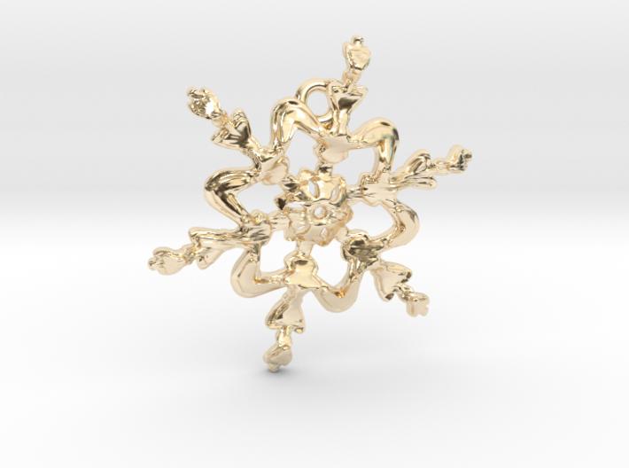 Snowflake Flower - 40mm Ha 3d printed