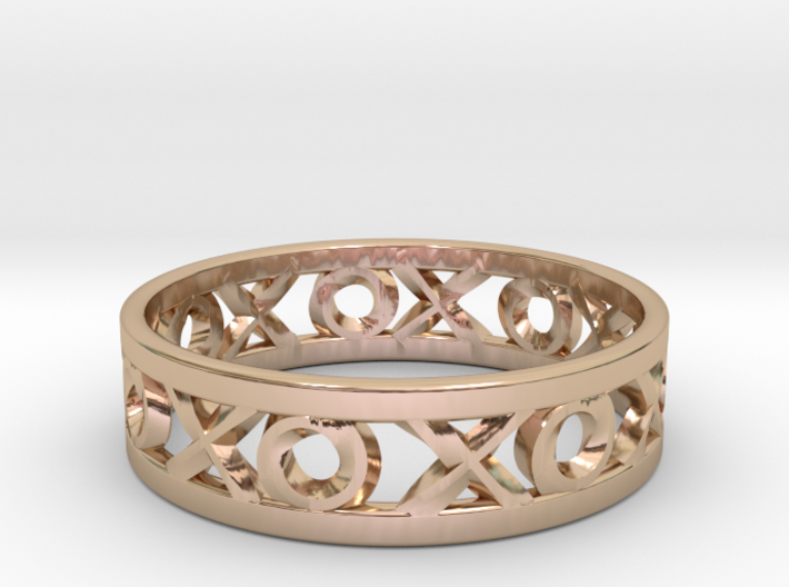 Size 8 Xoxo Ring 3d printed