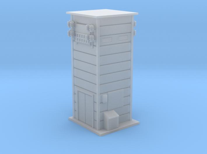 Catenary system Tranformer Z Scale 3d printed Electronic House for Catenary system Z scale