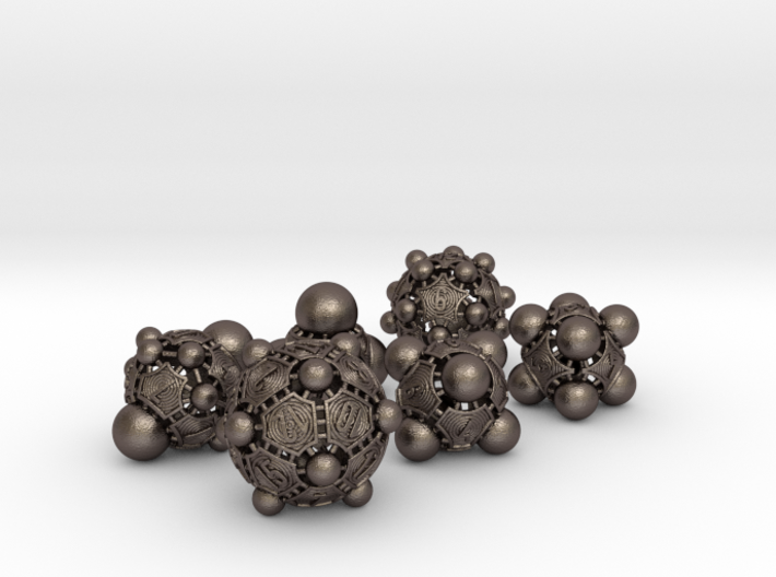 Nucleii Dice Set 3d printed