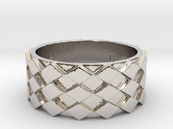 Futuristic Diamond Ring Size 11 3d printed
