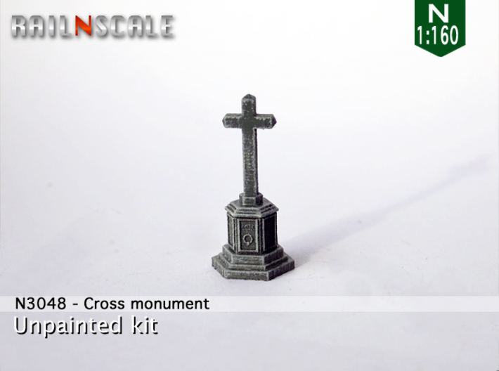 Cross memorial (N 1:160) 3d printed