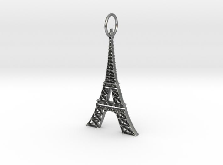 Eiffel Tower Earring Ornament 3d printed
