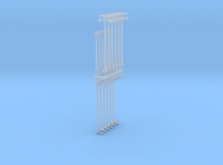 N Scale Streetlights 3d printed