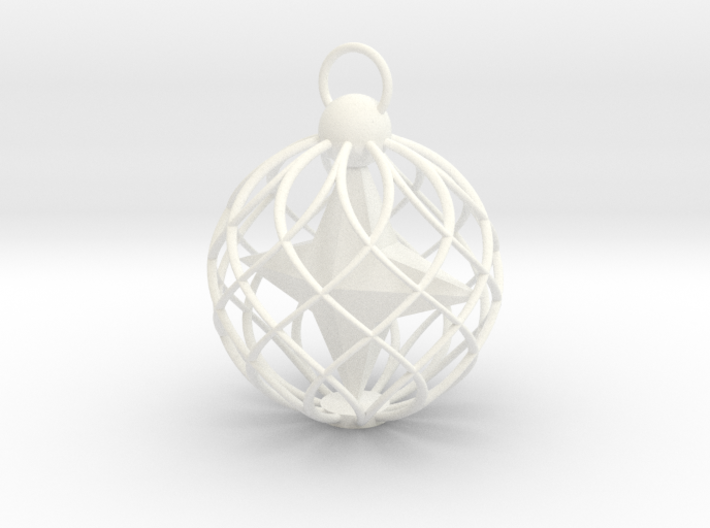 Star Cage Bauble 3d printed