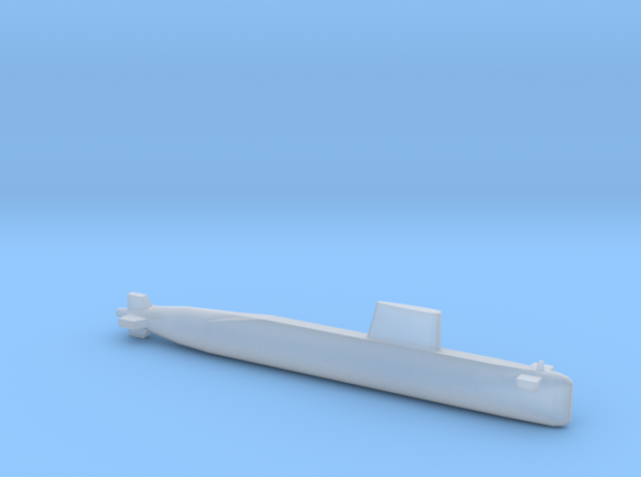 Agosta 70 SSK, Full Hull, 1/1800 3d printed