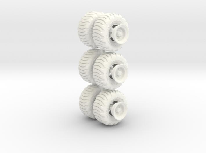 1-64 Tire Galaxy 725-65-26 + Rim SET 3d printed