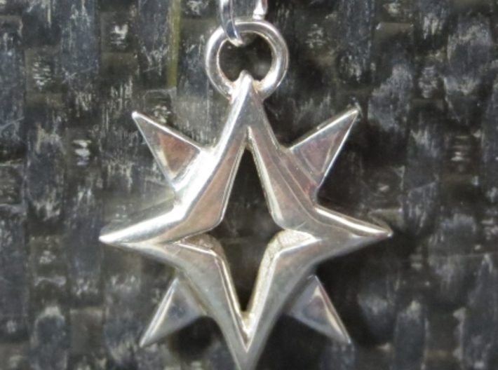 Starbright Pendant 3d printed Starbright Pendant in Polished Silver