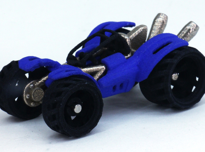 BajaRacer V1: Part 2 in set of 3 - Wheels 3d printed fully assembled set