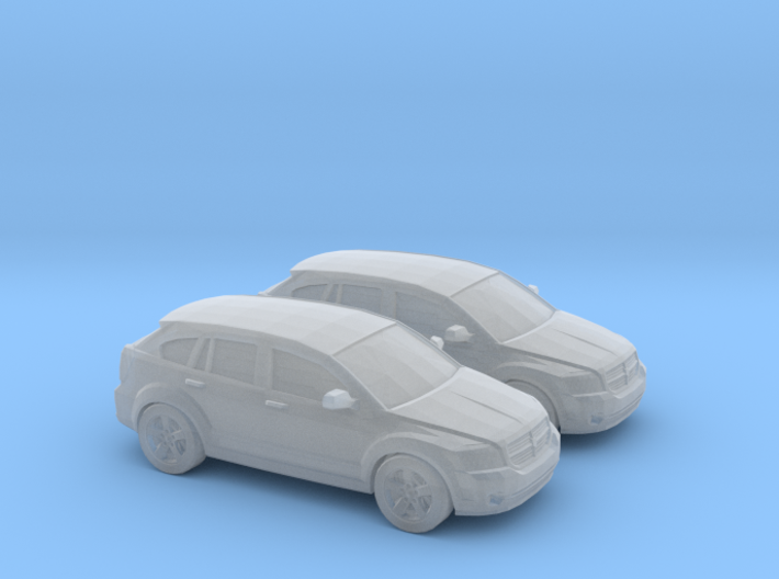 1/148 2X 2007 Dodge Caliber 3d printed