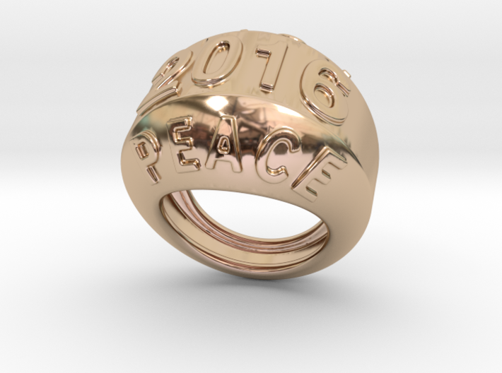 2016 Ring Of Peace 14 - Italian Size 14 3d printed