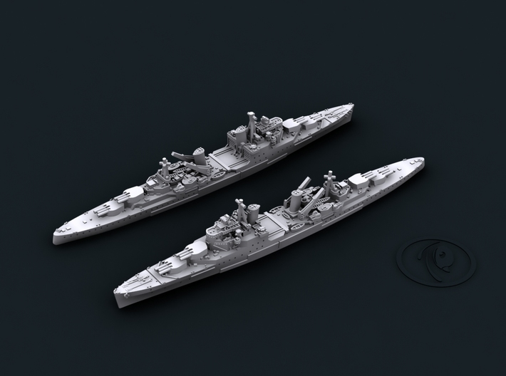 UK Town Class Light Cruisers 3d printed Southampton[1940]
