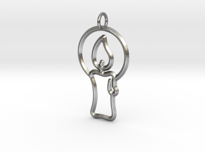 Christmas Candle Pendant 3d printed