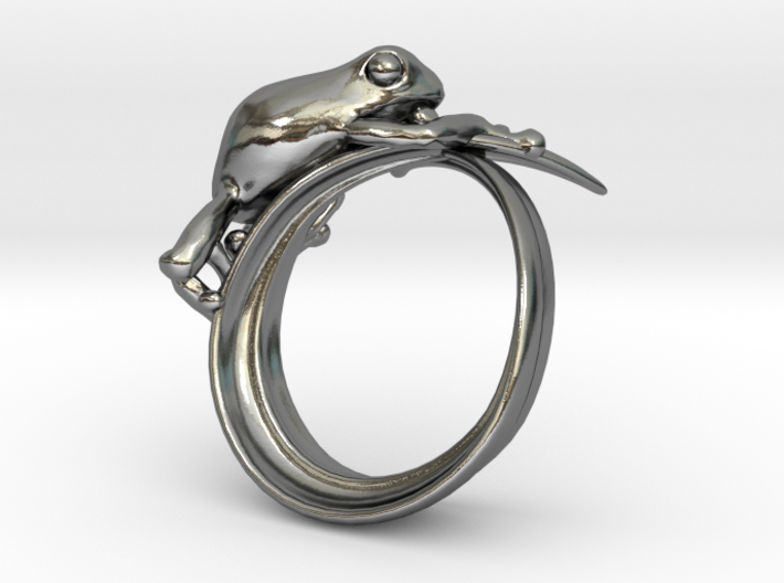 Frog ring 15mm 3d printed