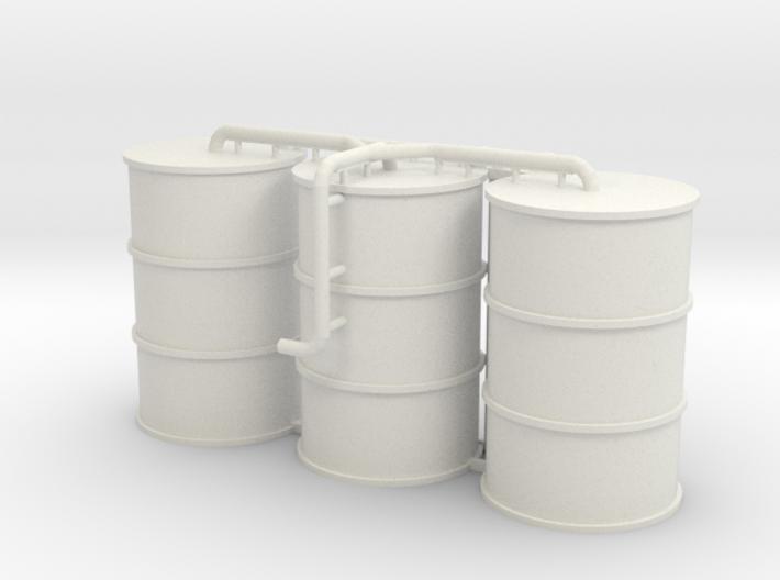 N Scale Concrete Plant Silos 3d printed