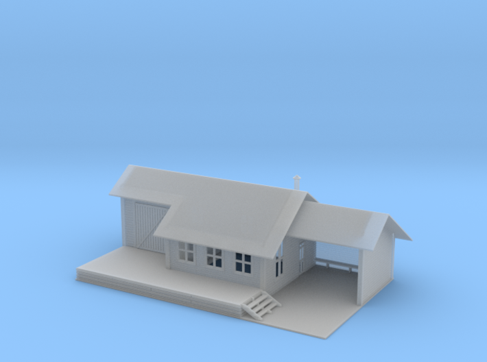 Small Train Station Z Scale 3d printed