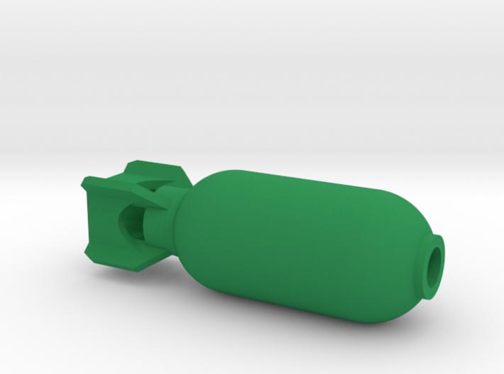 DRAW pendant - color plastic bomb 3d printed