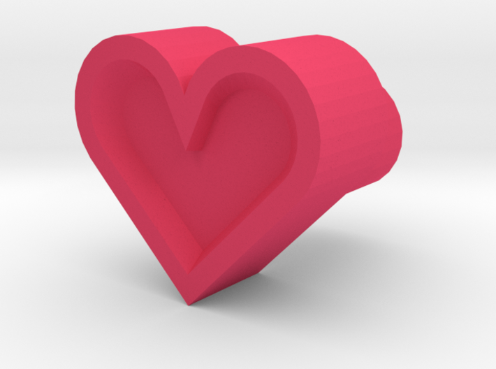 Leather stamp 11, heart shaped leatherstamp 3d printed