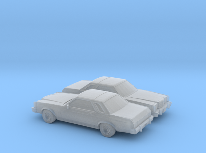 1/160 2X 1978-80 Ford Granada Coupe 3d printed