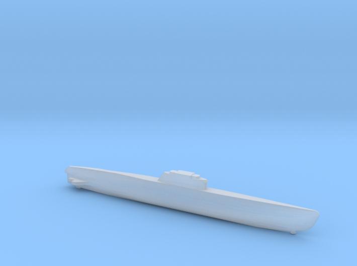 Type XXI Submarine, Full Hull, 1/2400 3d printed