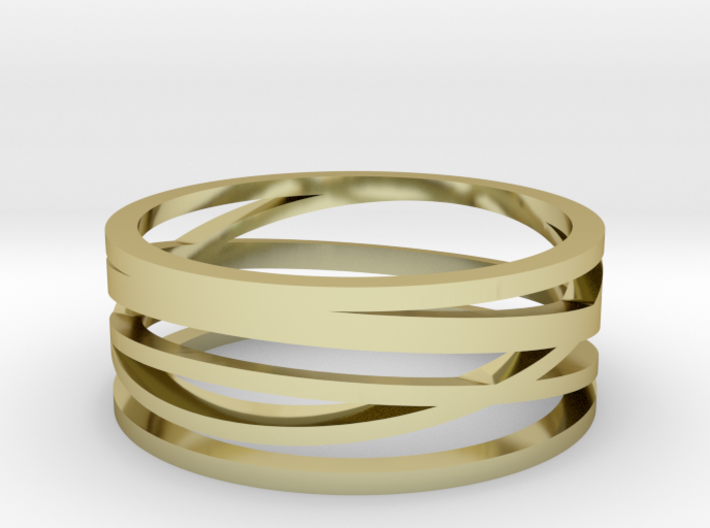 Abstract Lines Ring - US Size 11 3d printed