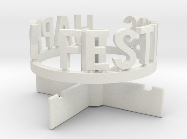 DRAW Festivus - pole stand with Festivus ring 3d printed