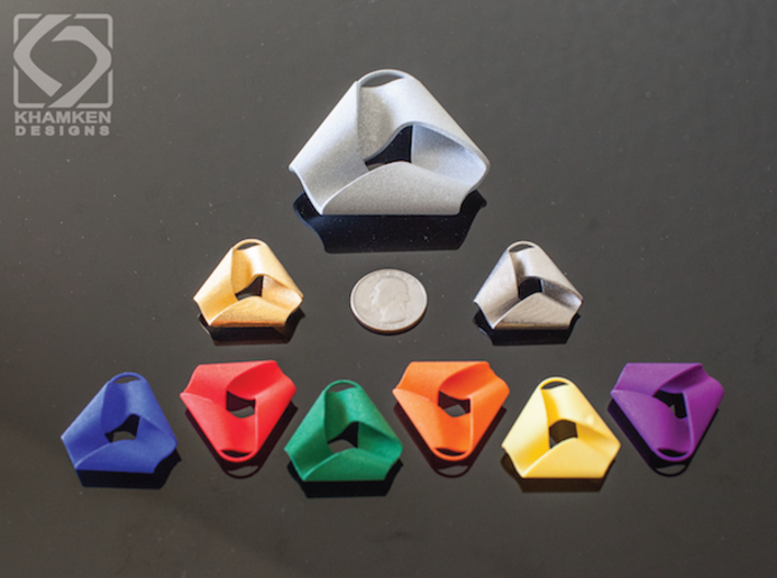 Mobius Triangle Pendant (Large) 3d printed
