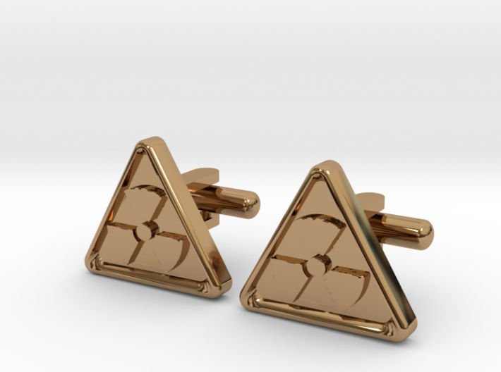 RADIOACTIVE SIGN CUFFLINKS 3d printed